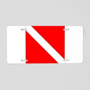 Diver Down Aluminum License Plate