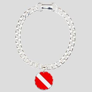 Diver Down Charm Bracelet, One Charm