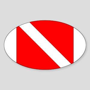 Diver Down Sticker (Oval)