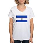El Salvador Women's V-Neck T-Shirt