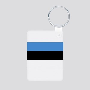 Estonia Aluminum Photo Keychain