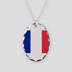 France Necklace Oval Charm