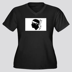 Corsica Women's Plus Size V-Neck Dark T-Shirt