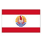 French Polynesia Sticker (Rectangle 50 pk)