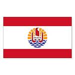 French Polynesia Sticker (Rectangle 10 pk)