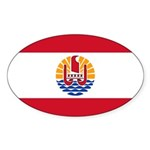 French Polynesia Sticker (Oval 50 pk)