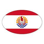 French Polynesia Sticker (Oval 10 pk)