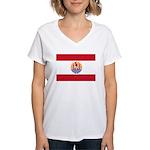 French Polynesia Women's V-Neck T-Shirt