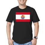 French Polynesia Men's Fitted T-Shirt (dark)
