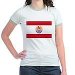 French Polynesia Jr. Ringer T-Shirt