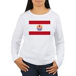 French Polynesia Women's Long Sleeve T-Shirt