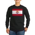 French Polynesia Long Sleeve Dark T-Shirt