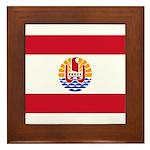 French Polynesia Framed Tile