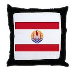 French Polynesia Throw Pillow