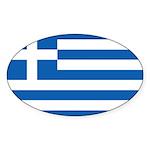 Greece Sticker (Oval 10 pk)