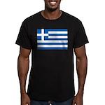 Greece Men's Fitted T-Shirt (dark)