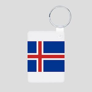 Iceland Aluminum Photo Keychain