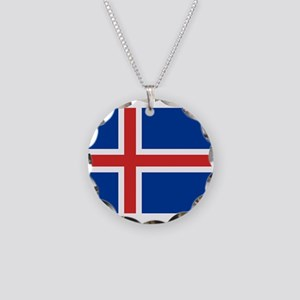 Iceland Necklace Circle Charm