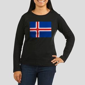 Iceland Women's Long Sleeve Dark T-Shirt