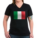 Italy Women's V-Neck Dark T-Shirt