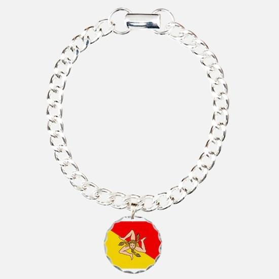 Sicily Charm Bracelet, One Charm