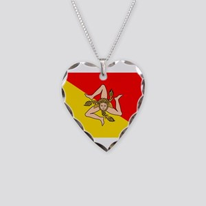 Sicily Necklace Heart Charm