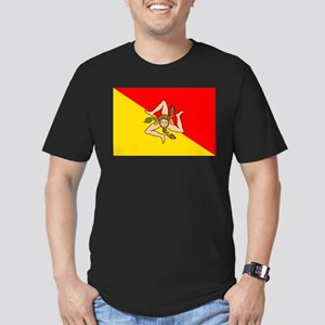 Sicily Men's Fitted T-Shirt (dark)