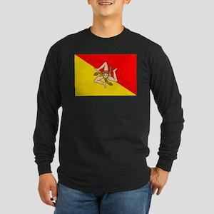 Sicily Long Sleeve Dark T-Shirt