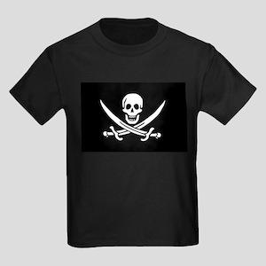 Calico Jack Rackham Jolly Rog Kids Dark T-Shirt