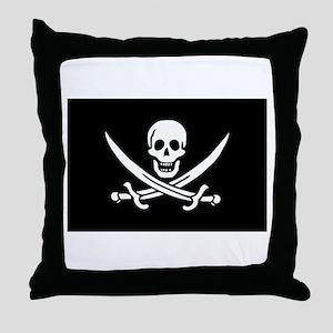 Calico Jack Rackham Jolly Rog Throw Pillow