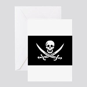 Calico Jack Rackham Jolly Rog Greeting Card