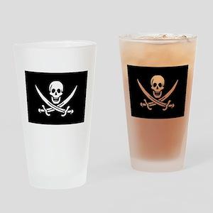 Calico Jack Rackham Jolly Rog Drinking Glass