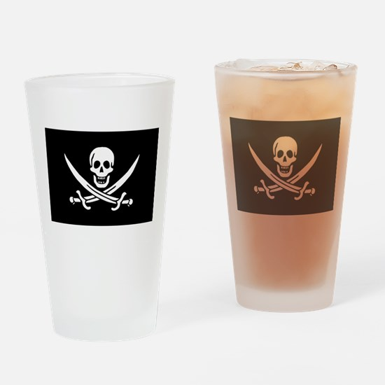 Calico Jack Rackham Jolly Rog Drinking Glass