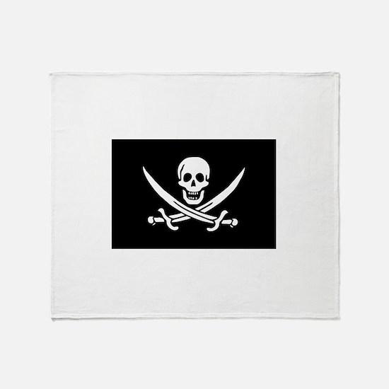 Calico Jack Rackham Jolly Rog Throw Blanket