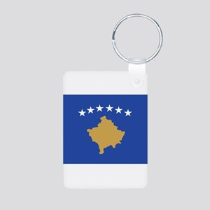 Kosovo Aluminum Photo Keychain