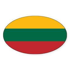 Lithuania Sticker (Oval)