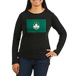Macau Women's Long Sleeve Dark T-Shirt