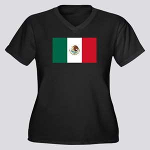 Mexico Women's Plus Size V-Neck Dark T-Shirt