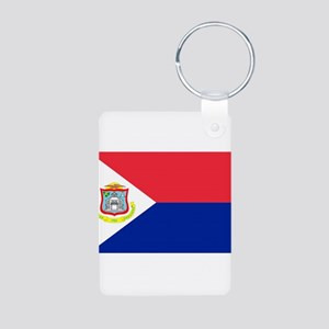 Sint Maarten Aluminum Photo Keychain