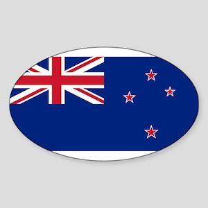 New Zealand Sticker (Oval)