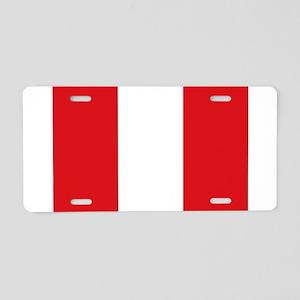 Peru Aluminum License Plate
