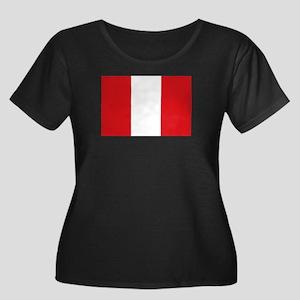 Peru Women's Plus Size Scoop Neck Dark T-Shirt