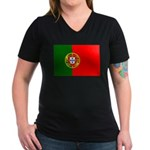 Portugal Women's V-Neck Dark T-Shirt