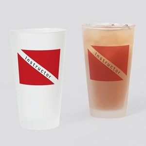 Instructor - Diver Down Flag Drinking Glass