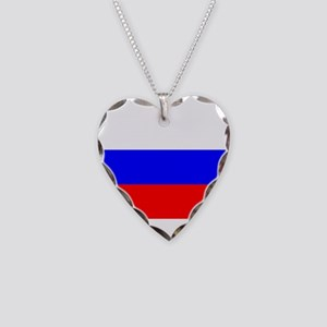Russia Necklace Heart Charm