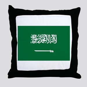 Saudi Arabia Throw Pillow