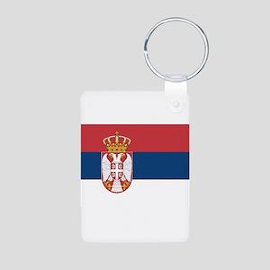 Serbia Aluminum Photo Keychain