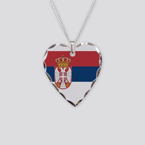 Serbia Necklace Heart Charm