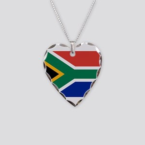 South Africa Necklace Heart Charm