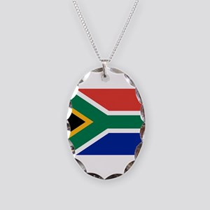South Africa Necklace Oval Charm